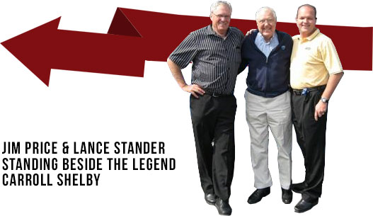 Lance Stander and Carroll Shelby next to Jim Price