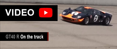 Video of the GT40 R on the track